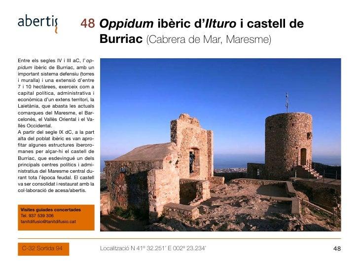 48 Oppidum ibèric d'Ilturo i castell de                                        Burriac (Cabrera de Mar, Maresme) Entre els...