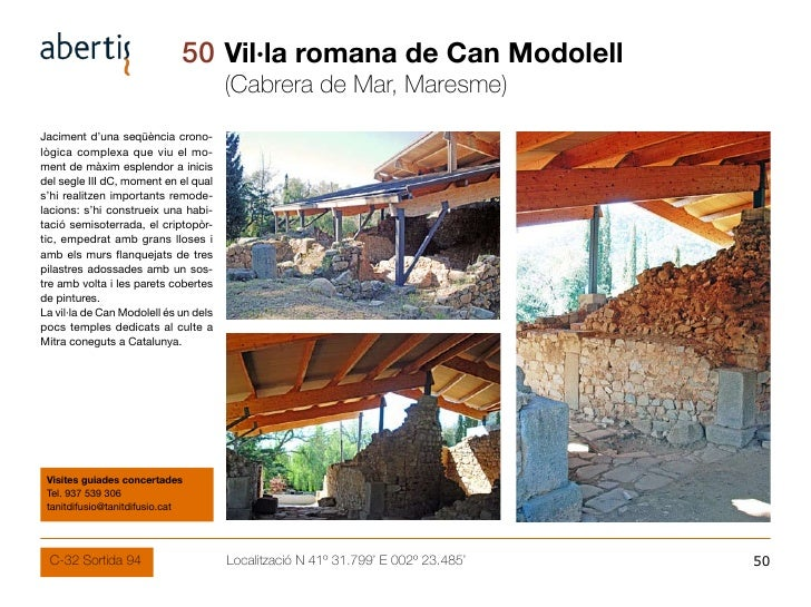 50 Vil·la romana de Can Modolell                                        (Cabrera de Mar, Maresme) Jaciment d'una seqüència...