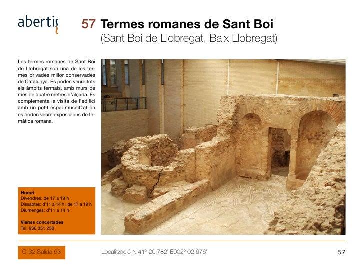57 Termes romanes de Sant Boi                                          (Sant Boi de Llobregat, Baix Llobregat) Les termes ...