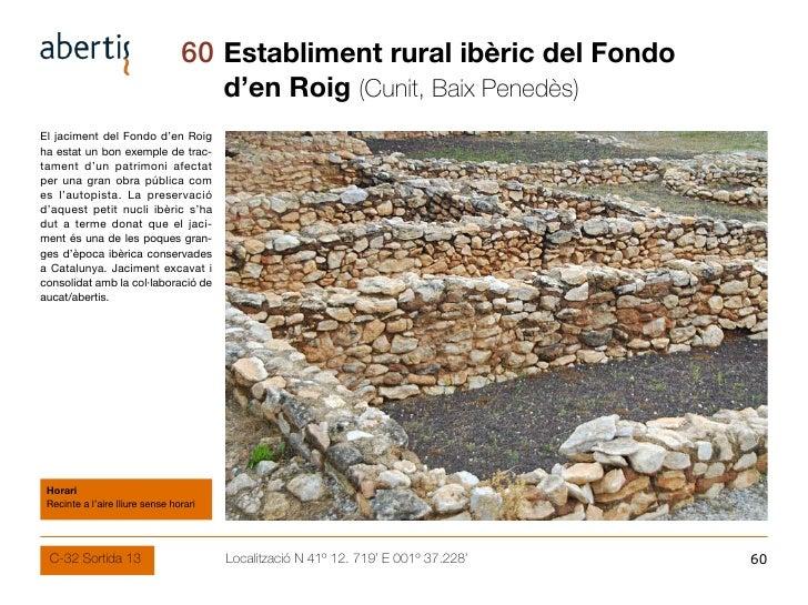 60 Establiment rural ibèric del Fondo                                         d'en Roig (Cunit, Baix Penedès) El jaciment ...