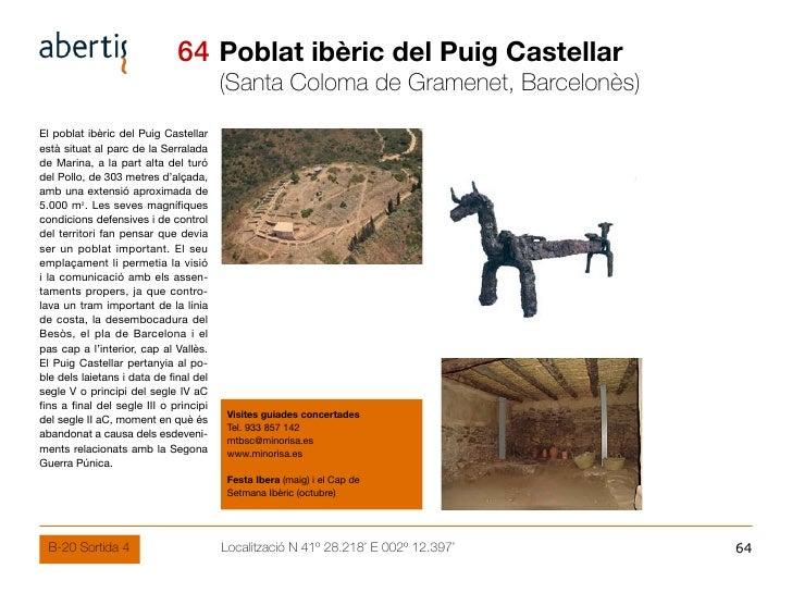 64 Poblat ibèric del Puig Castellar                                         (Santa Coloma de Gramenet, Barcelonès) El pobl...