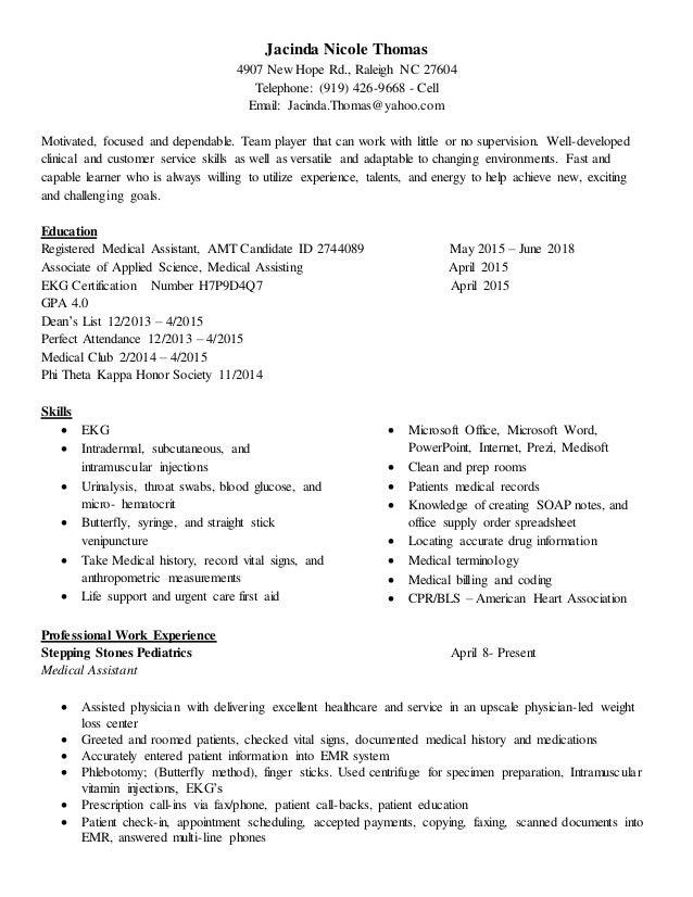 Jacinda thomas resume