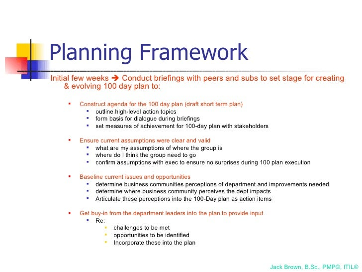 100 day plan for directing a pmo for First 100 days plan template