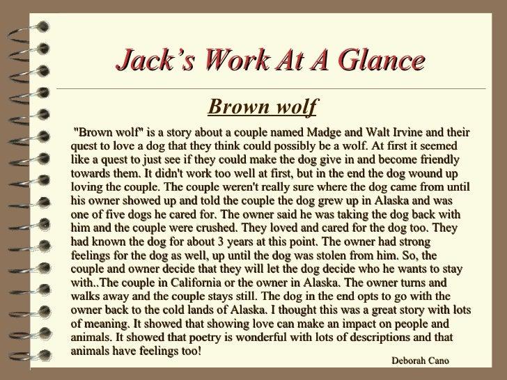 brown wolf summary