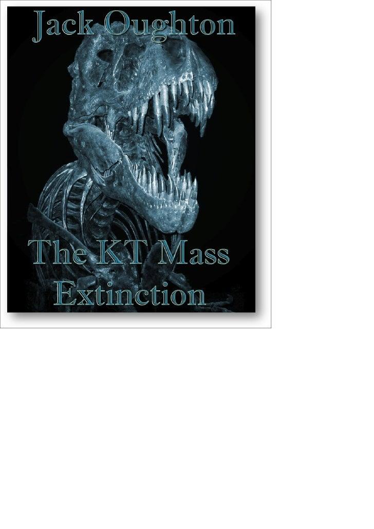 Precursor to KT - Species in decline?                                                       Many scientists believe around...
