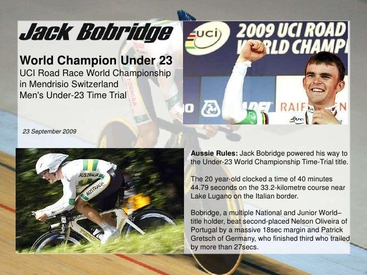 World Champion Under 23<br />UCI Road Race World Championship<br />in Mendrisio Switzerland<br />Men's Under-23 Time ...
