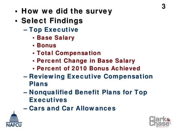 NAFCU Executive Compensation & Benefits Survey – Initial 2011 Findings (Credit Union Conference Presentation) Slide 3