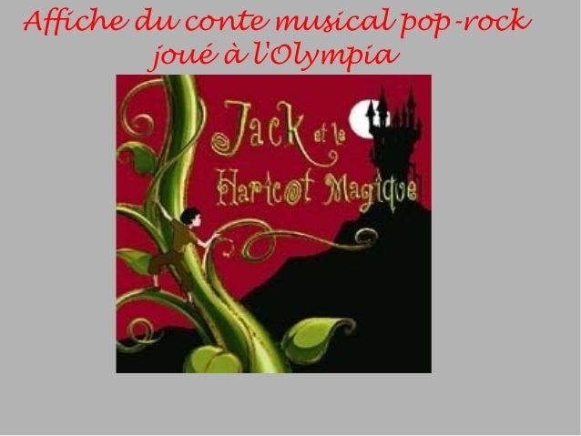 Affiche du conte musical pop-rock joué à l'Olympia
