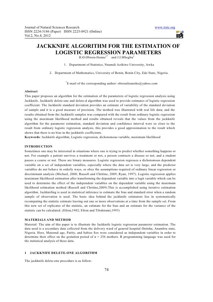 Journal of Natural Sciences Research                                                         www.iiste.orgISSN 2224-3186 (...