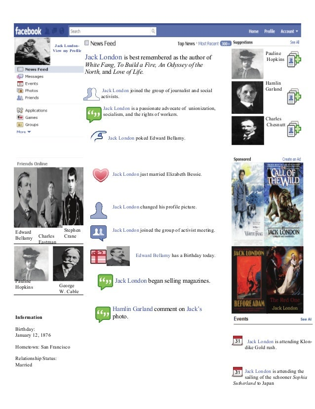 Jack London- View my Profile Jack London joined the group of journalist and social activists. Jack London is a passionate ...
