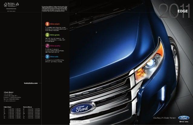 Jack Madden Ford  Ford Edge Brochure An U  C Awn Mu