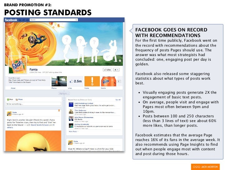 BRAND PROMOTION #2:POSTING STANDARDS                      FACEBOOK GOES ON RECORD                      WITH RECOMMENDATION...
