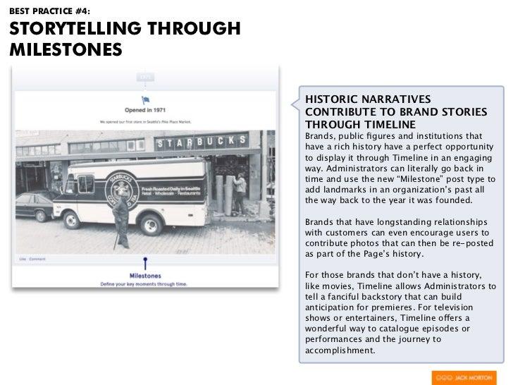 BEST PRACTICE #4:STORYTELLING THROUGHMILESTONES                       HISTORIC NARRATIVES                       CONTRIBUTE...