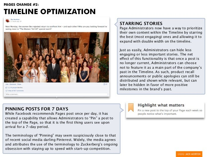 PAGES CHANGE #2:TIMELINE OPTIMIZATION                                                                     STARRING STORIES...