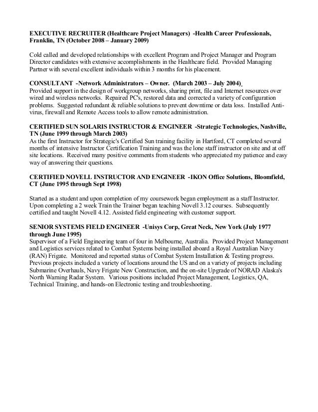 Healthcare It Manager Resume. cover letter for healthcare it job ...