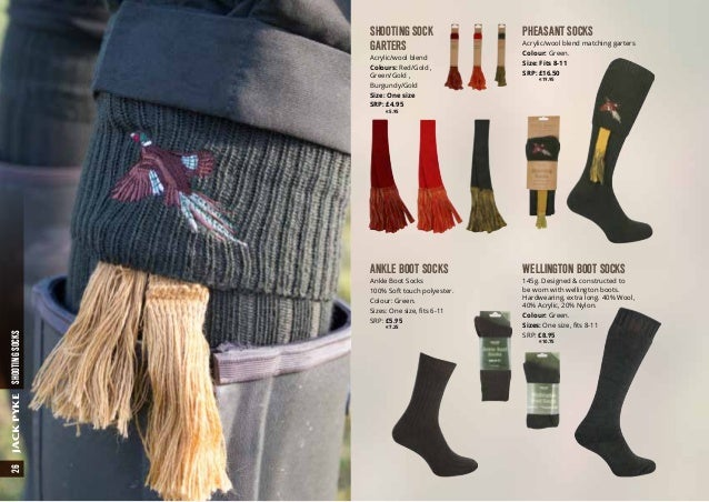 Jack Pyke Diamond Shooting Socks /& Garter Set Size 8-11