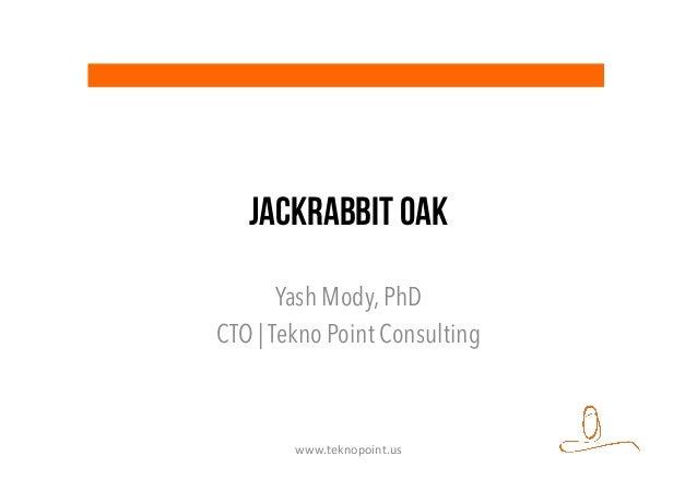 JackRabbit OAK Yash Mody, PhD CTO | Tekno Point Consulting www.teknopoint.us
