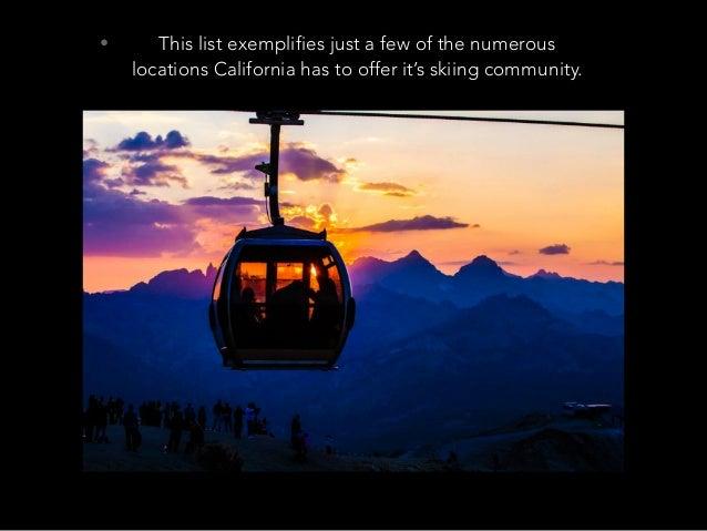 Jack D Ryger: California Ski Destinations Slide 3