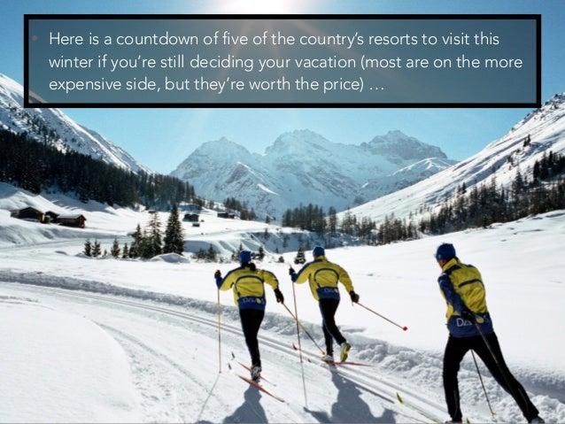 Jack Ryger: Top 5 Skiing Resorts in Switzerland Slide 3