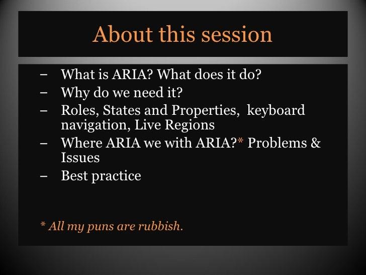 An Introduction to WAI-ARIA Slide 2