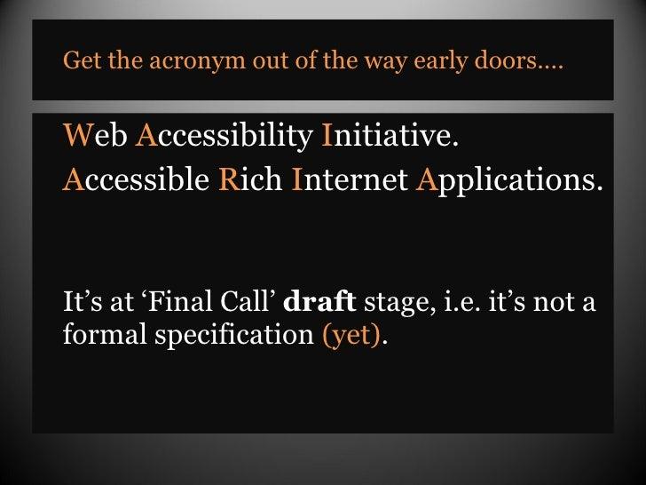 An Introduction to WAI-ARIA Slide 3