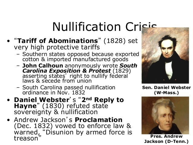 jackson vs calhoun and nullification crisis Download thesis statement on jackson vs calhoun and the nullification crisis in our database or order an original thesis paper that will be written by one of our staff writers and delivered according to the deadline.