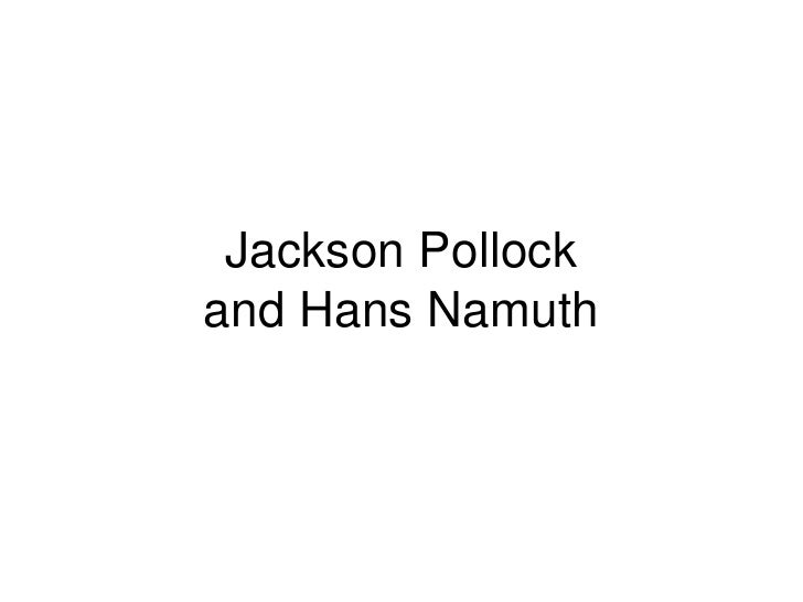 Jackson Pollock and Hans Namuth<br />