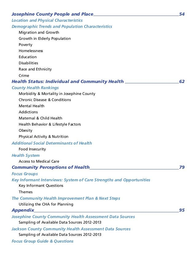Josephine County People and Place 54 Location and Physical Characteristics Demographic Trends and Population Characteristi...