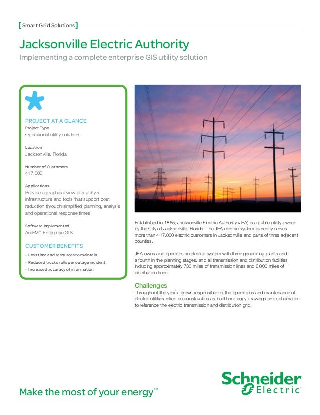 Smart Grid SolutionsJacksonville Electric AuthorityImplementing a complete enterprise GIS utility solution PROJECT AT A GL...