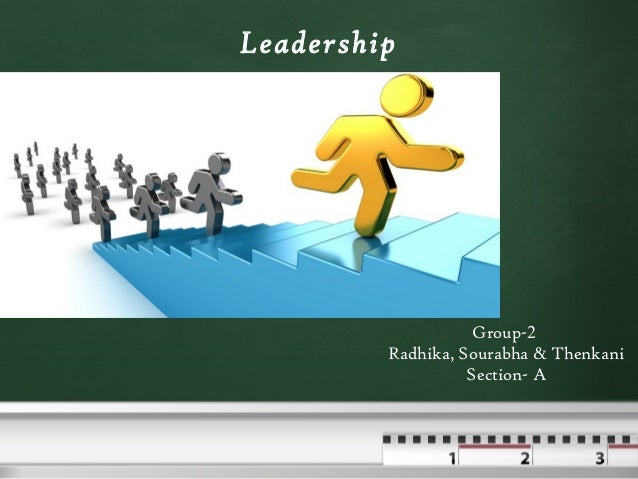 Leadership Group-2 Radhika, Sourabha & Thenkani Section- A