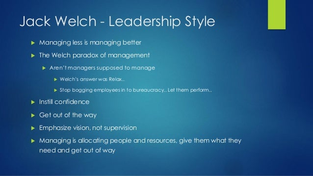 management skilss that jack welch uses