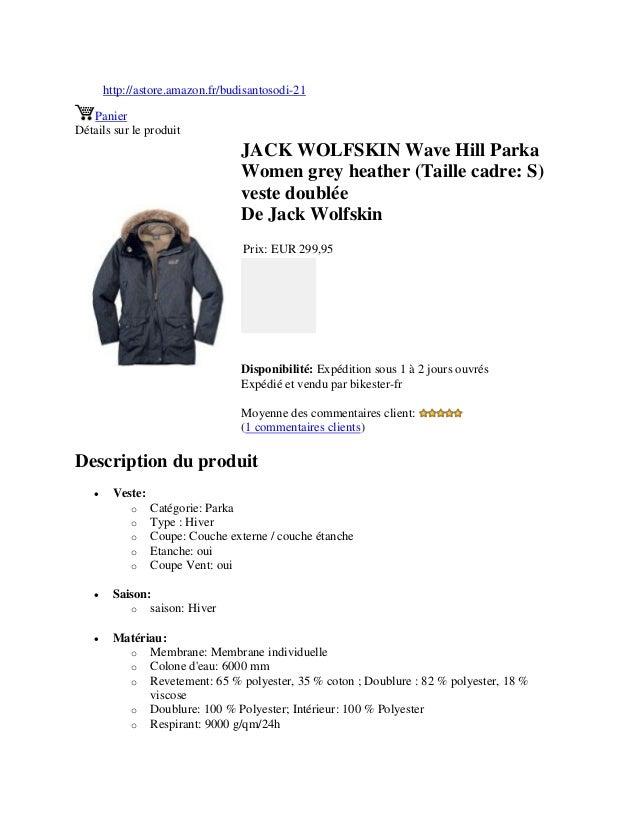 http://astore.amazon.fr/budisantosodi-21PanierDétails sur le produitJACK WOLFSKIN Wave Hill ParkaWomen grey heather (Taill...
