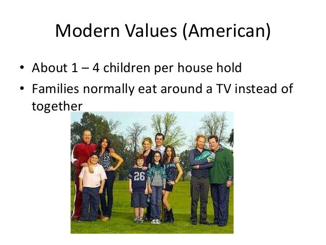 The decline of the values in american families