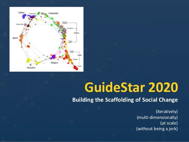 GuideStar 2020 Building the Scaffolding of Social Change (iteratively) (multi-dimensionally) (at scale) (without being a j...