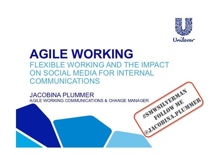 AGILE WORKINGFLEXIBLE WORKING AND THE IMPACTON SOCIAL MEDIA FOR INTERNALCOMMUNICATIONSJACOBINA PLUMMERAGILE WORKING COMMUN...