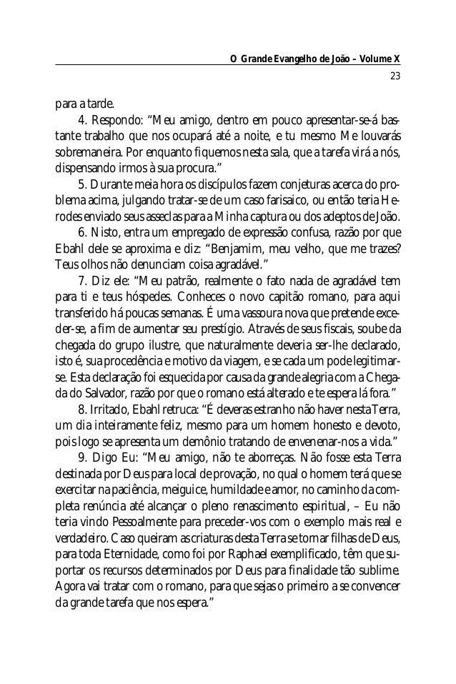 O Grande Evangelho de João – Volume X                                                                         23para a tar...