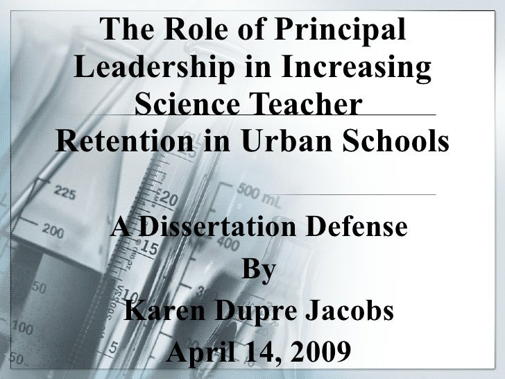 Role of Principal Leadership in Increasing Science Teacher Retention …