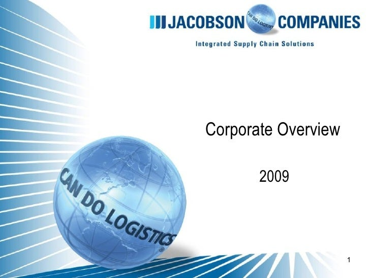 Corporate Overview 2009