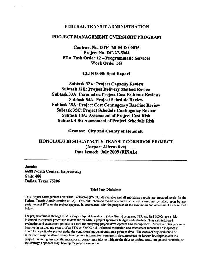Jacobs PMOC report