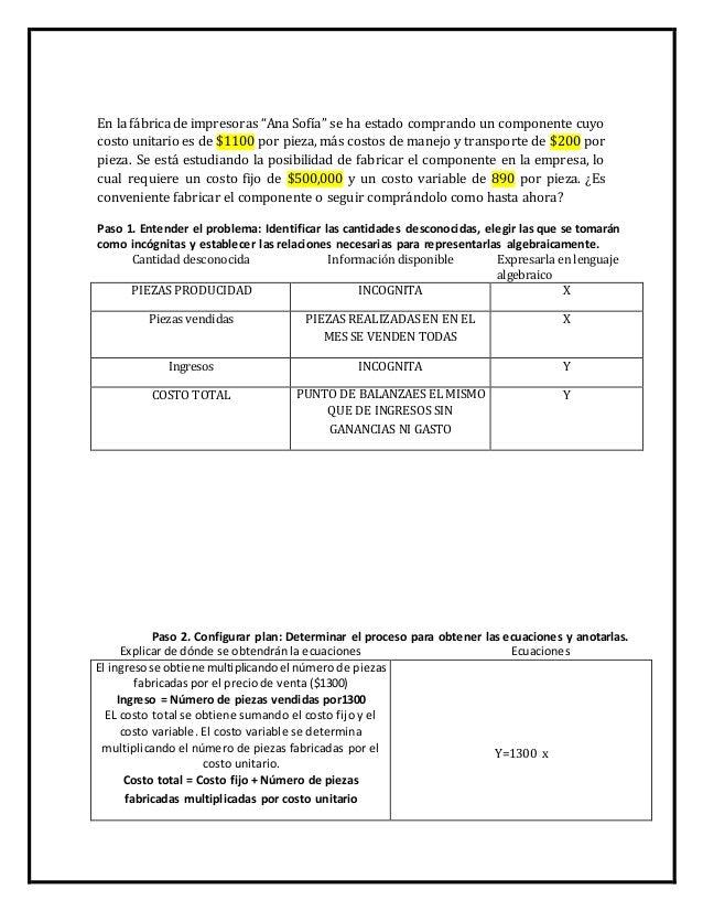 """En la fábrica de impresoras """"Ana Sofía"""" se ha estado comprando un componente cuyo  costo unitario es de $1100 por pieza, m..."""
