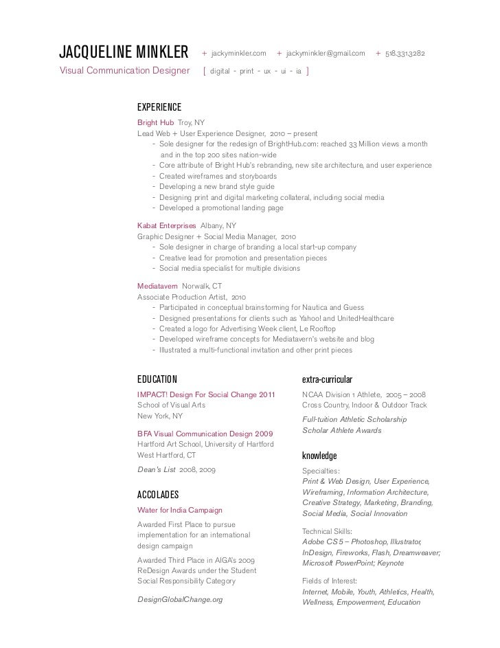 jacqueline minkler design resume jacqueline minkler jackyminklercom jackyminklergmailcom 5183313282visual - Ux Design Resume