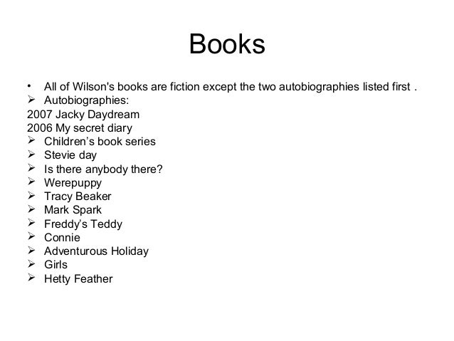 jacqueline wilson list of books