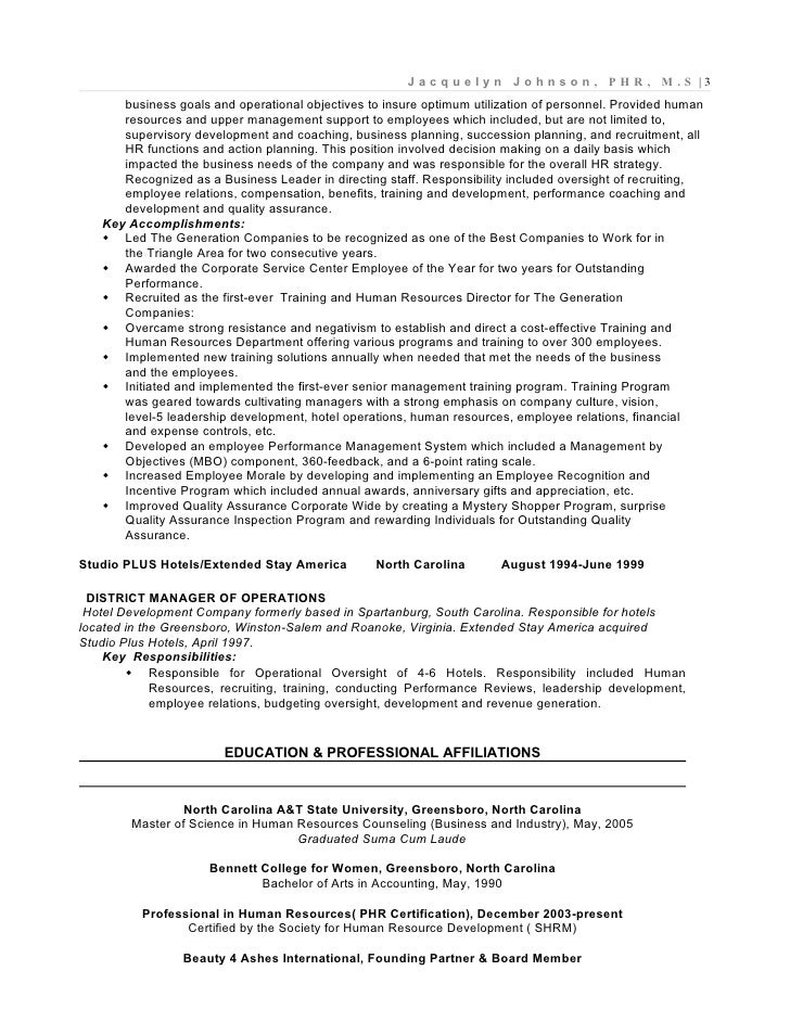 company strategic 3 - Employee Relation Manager Resume