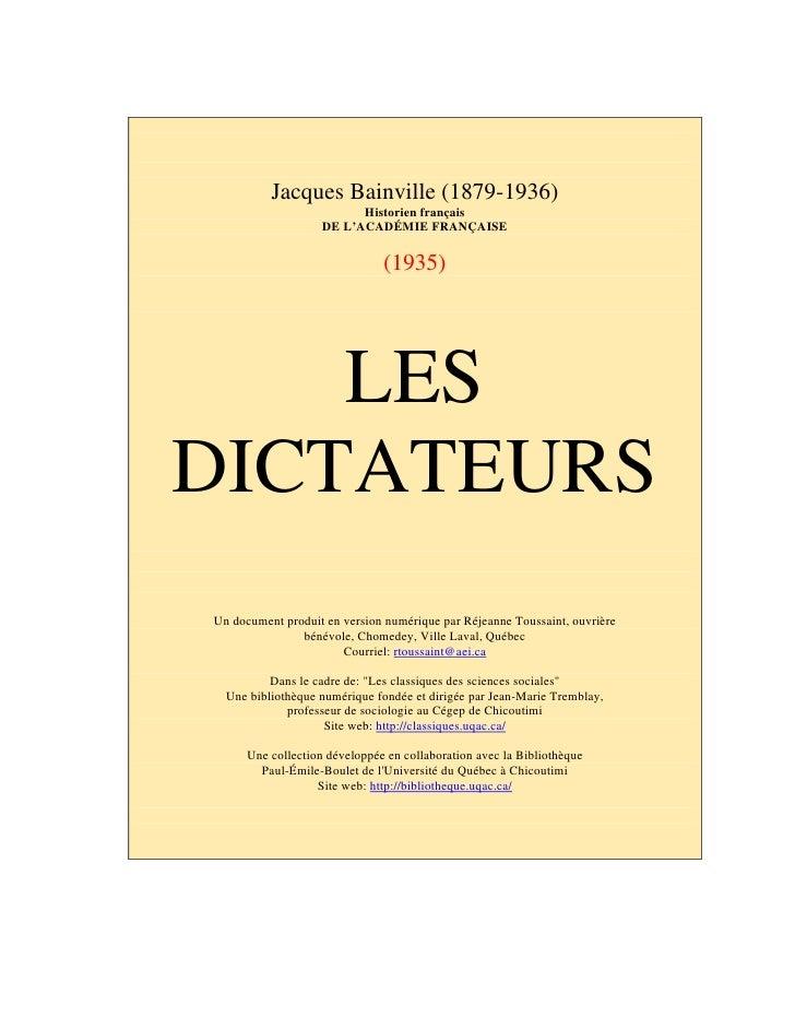 Jacques Bainville (1879-1936)                           Historien français                     DE L'ACADÉMIE FRANÇAISE    ...