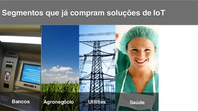 Segmentos que já compram soluções de IoT! Bancos! Agronegócio! Utilities! Varejo!Saúde!