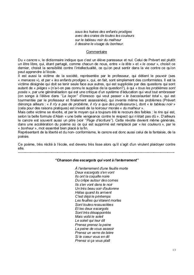 Jacques Prévert Paroles