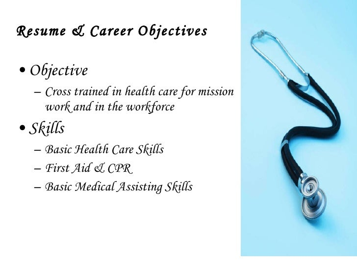 career objective for medical assistant