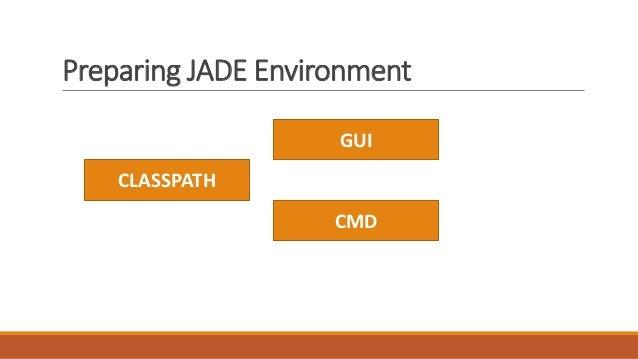Preparing JADE Environment CLASSPATH GUI CMD