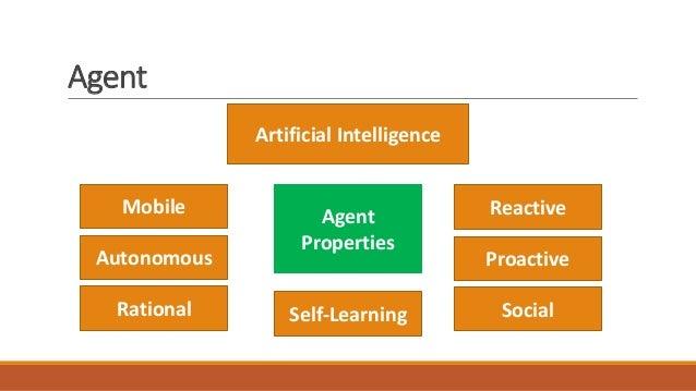 Agent Artificial Intelligence Mobile Agent Properties Autonomous Rational Reactive Proactive SocialSelf-Learning