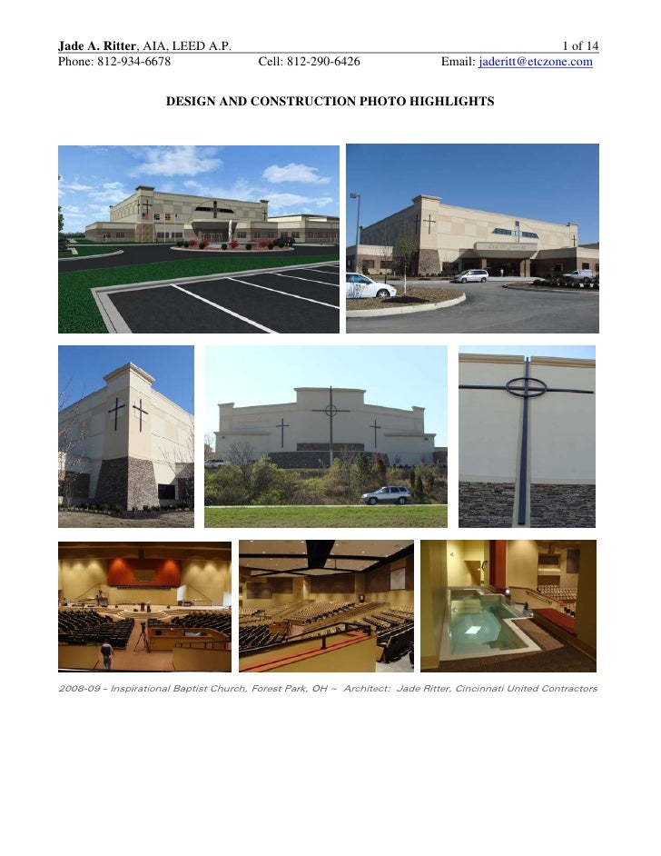 Jade A. Ritter, AIA, LEED A.P.                                                                      1 of 14 Phone: 812-934...